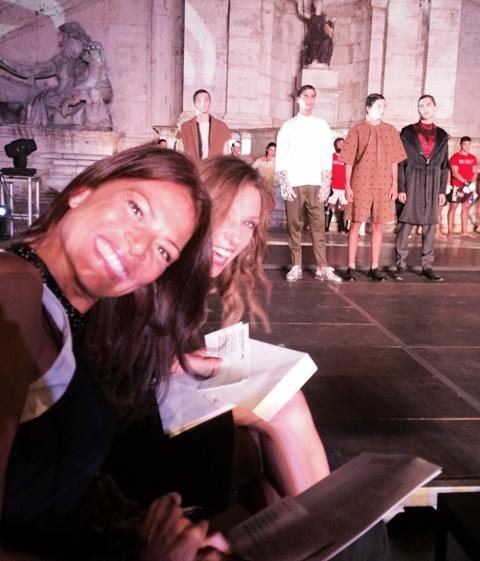 The jury at work: Valentina Vezzali & Valeria Ciarriello. photo by N