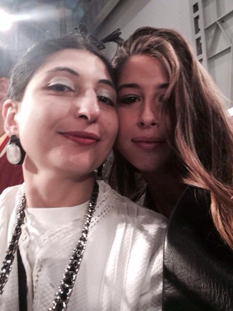 Nina Pons Fendi and me, myself and I, photo by N
