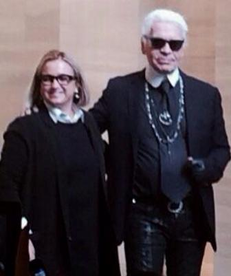 Silvia Venturini Fendi and Karl Lagerfeld, photo by N