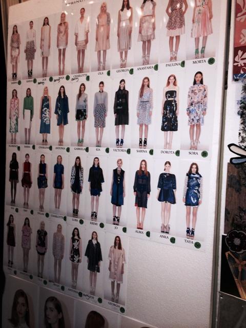 The backstage of Aquilano Rimondi fashion show, photo by N