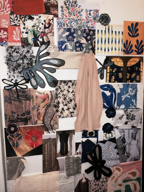 The mood-board and patterns of the Aquilano Rimondi Spring/Summer 2015 collection photo by N