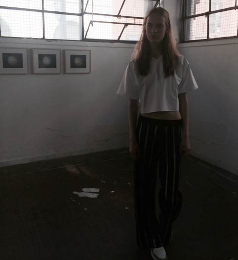 Arthur Arbesser Spring/Summer 2015 & the artworks by Carlo Valsecchi, photo by N