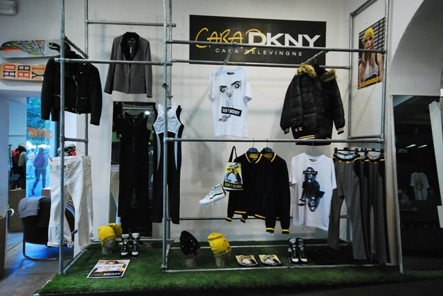 The capsule collection by Cara Delevingne x DKNY ft. in Boysloft,  photo courtesy Boysloft