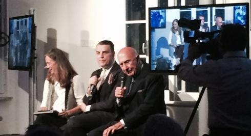 Cinzia Malvini, Antonio Mancinelli and Beppe Modenese, photo by N