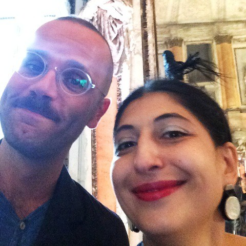 The journalist Angelo Flaccavento and me, myself & I, photo by N