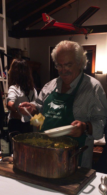 The maître chef: Gentucca's father, photo by N