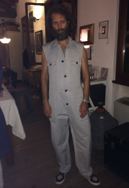 The charm of uniform by night at Gentucca's house, photo by N