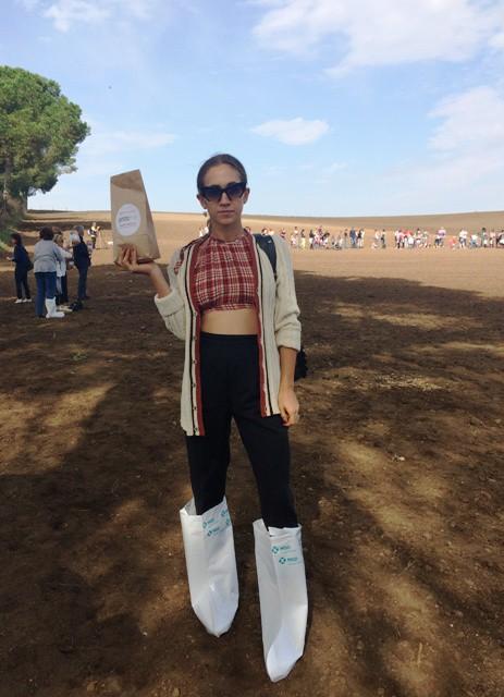 Delfina Delettrez ready to sow, photo by N