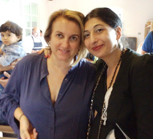 Silvia Venturini Fendi and me, myself and I, photo by N