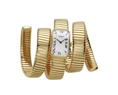 Bulgari, Tubogas gold bracelet-watch, ca 1965