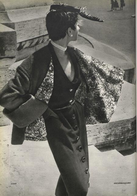 Giovannelli-Sciarra, photo Fortunato Scrimali published in the magazine Bellezza, n. 9, September 1953