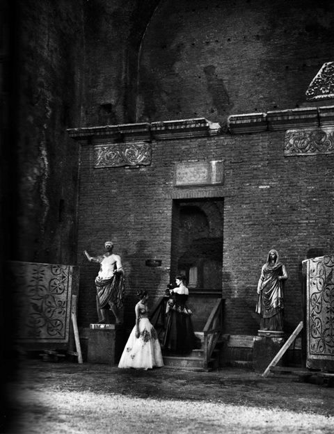 Two creations by De Gasperi Zezza at Museum of the  Baths of Diocletian, photo Pasquale De Antonis, Rome, 1948