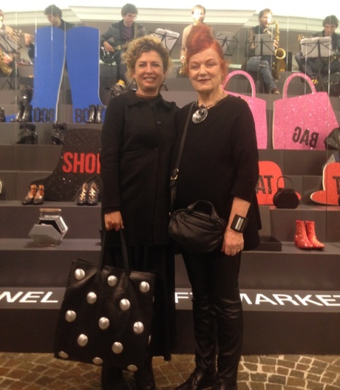 The one and only Roberta Valentini along with Ilaria Venturini Fendi, photo by Alessandro Boccingher