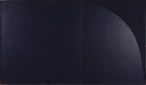 "Alberto Burri, ""Grande nero"" cellotex, cellotex and acrylic on canvas (1975)"