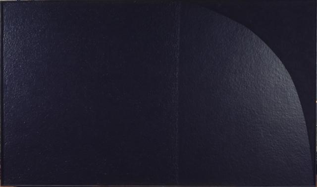 """Alberto Burri, """"Grande nero"""" cellotex, cellotex and acrylic on canvas (1975)"""