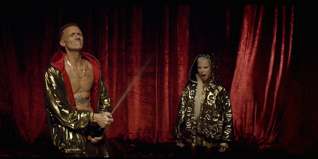 """Ninja and Yo-Landi Vi$$er, still image from the music video of """"Ugly boy"""" by Die Antwoord, directed by Ninja"""