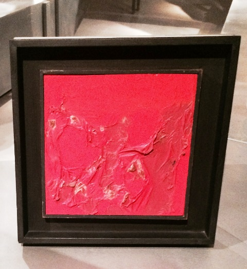 "Alberto Burri, ""Rosso plastica""(1961, private collection), photo by N"