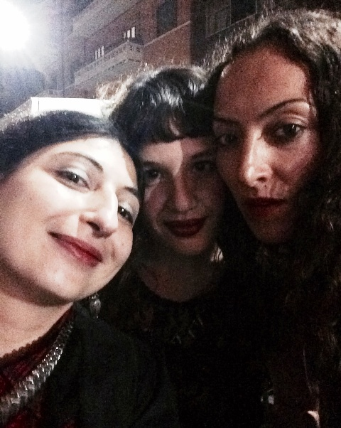 Me, myself & I along with Concetta D' Angelo and Silvia Morani, photo by N