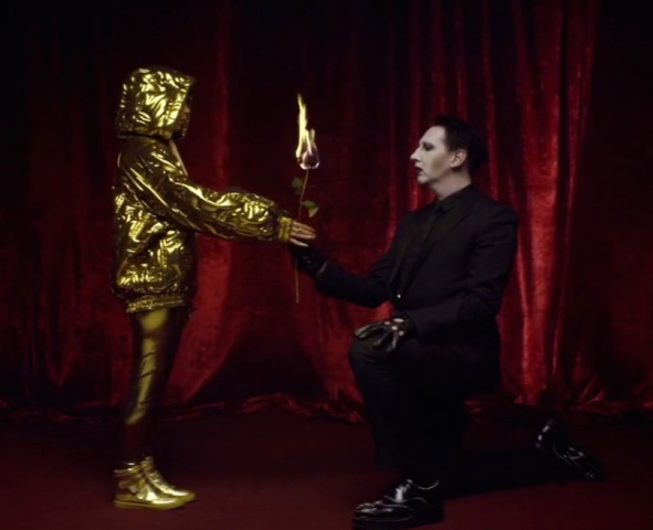 """Yo-Landi Vi$$er and Marilyn Manson, still image from the music video of """"Ugly boy"""" by Die Antwoord, directed by Ninja"""