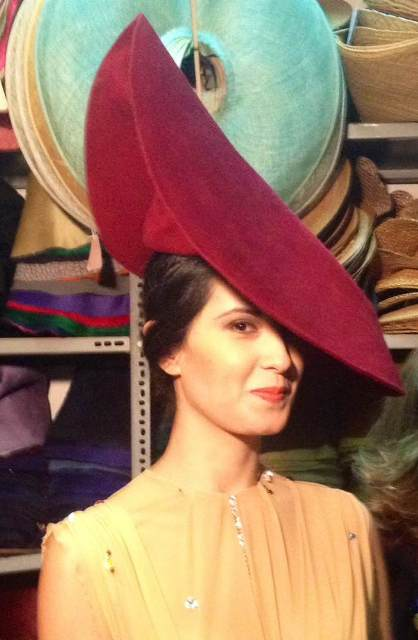 The live making of a hat by Patrizia Fabri