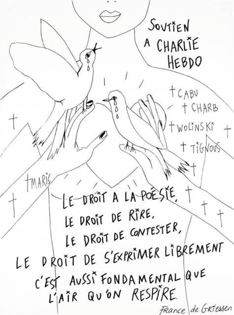 Drawing by France de Griessen