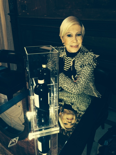 Anna Fendi at the La Torre wine bar, Rome, photo by N