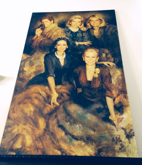 The Fendi sisters on canvas, photo by N