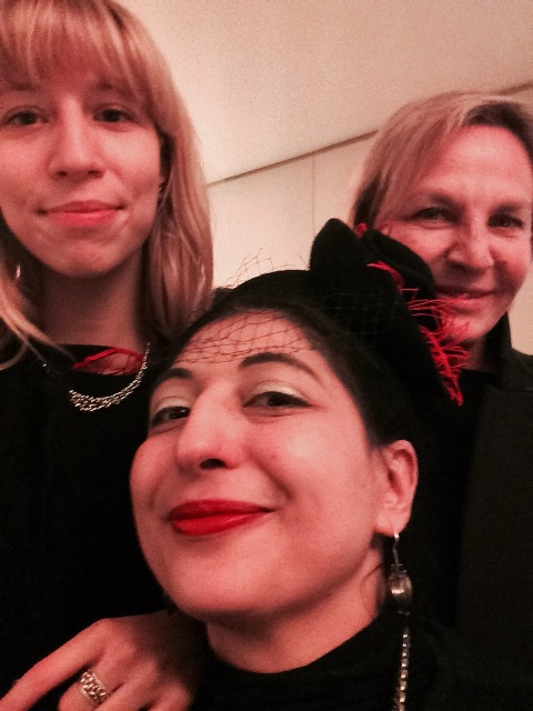 Me, myself & I along with Bea Bongiasca and Andreina Longhi, photo by N