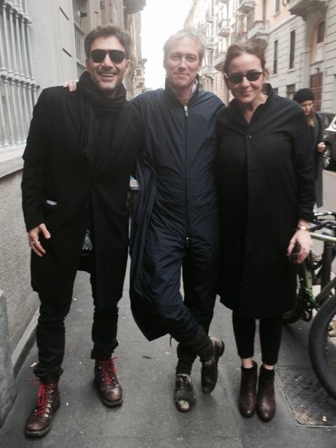 The artist Filippo Timi, Antonio Mondino and Gentucca Bini, photo by N