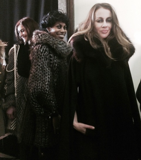 The models at the backstage of the fashion show some minute before its start, photo by N