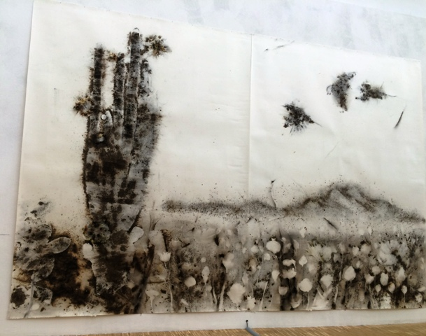 Cai Guo-Qiang, Sunshine and solitude: poppy flowers, 2010, courtesy of the artist, photo by N