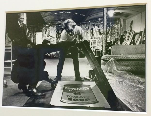 Ugo Mulas, Andy Warhol at the Warhol factory,  photo by N