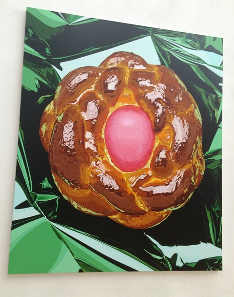 Jeff Koons, bread with egg, 1995-1997, courtesy the artist and Jérôme de Noirmont, Paris
