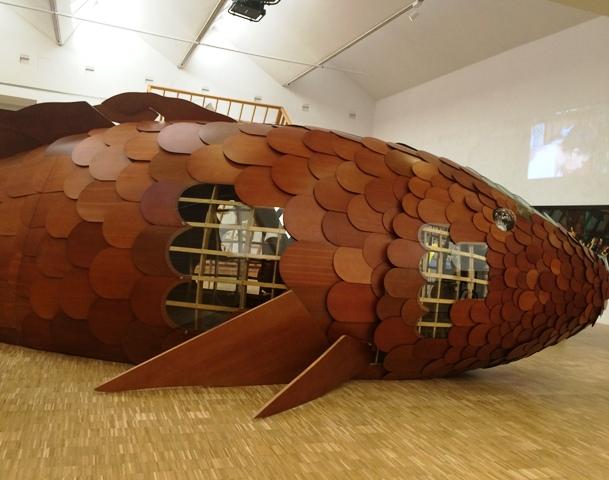 Frank O. Gehry, the gift fish, 1985, Castello di Rivoli Contemporary Art Museum, long term deposit Marco Rivetti Foundation, Rivoli-Turin, photo by N