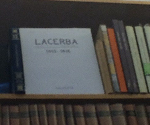 The Lacerba collection at the Tarantola bookstore, photo by N