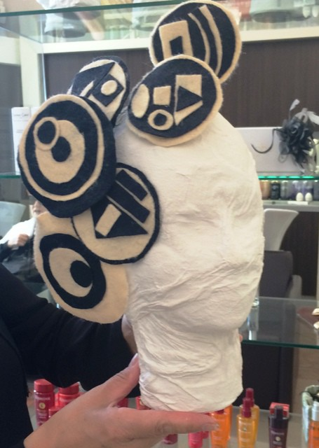 The head accessories made by Clara at ClaraPerClara, photo by N
