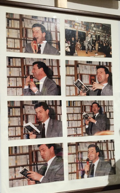 Aldo Busi ft. in the Tarantola bookstore, photo by N