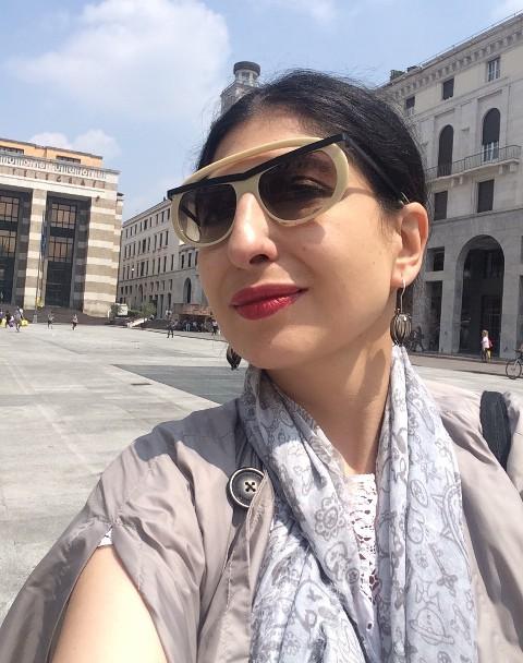 Me, myself & I walking in Brescia, photo by N
