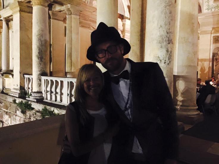 Giacomo Maiolini and Simona Barbieri at Palazzo Te, photo courtesy of Giacomo Maiolini
