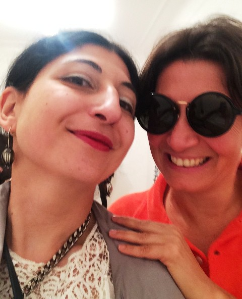 Me, myself & I along with Isabella Tonchi at the Milan Monica De Cardenas Gallery, photo by N