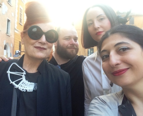 All together: The one and only Roberta Valentini, Alessandro Boccingher, Paola Sandrini and me,  myself & I, photo by N