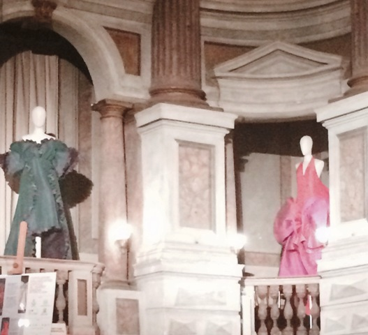 The creations by Roberto Capucci at the Mantova Bibiena Theatre, photo by N
