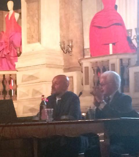 Michele Venturini and Roberto Capucci, photo by N