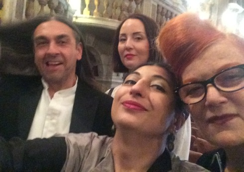 Gianluca Capannolo, Paola Sandrini, me,myself & I along with the one and only Roberta Valentini, photo by N