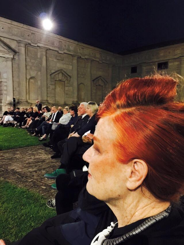 The one and only Roberta Valentini along with the audience during the ballet, photo by Giacomo Maiolini