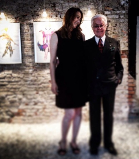 Barbara Locatelli & Roberto Capucci at the Mantua Spazio Bernardelli, photo courtesy of Barbara Locatelli