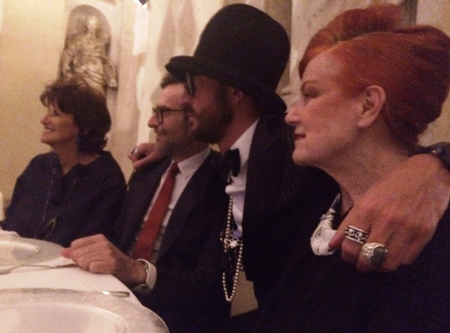Bruna Casella, Mario Dell' Oglio, the music producer  Giacomo Maiolini aka Feder and the one and only Roberta Valentini, photo by N