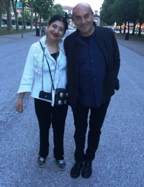 Me, myself & I along with  Mario Colosio arriving at Palazzo Te, photo by Roberta Valentini