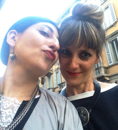 Me, myself & I along with Anna Porcu, photo by N