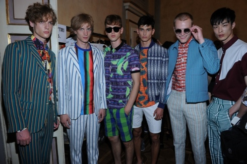 The models at the backstage of Stella Jean's fashion show, photo by Max Montingelli